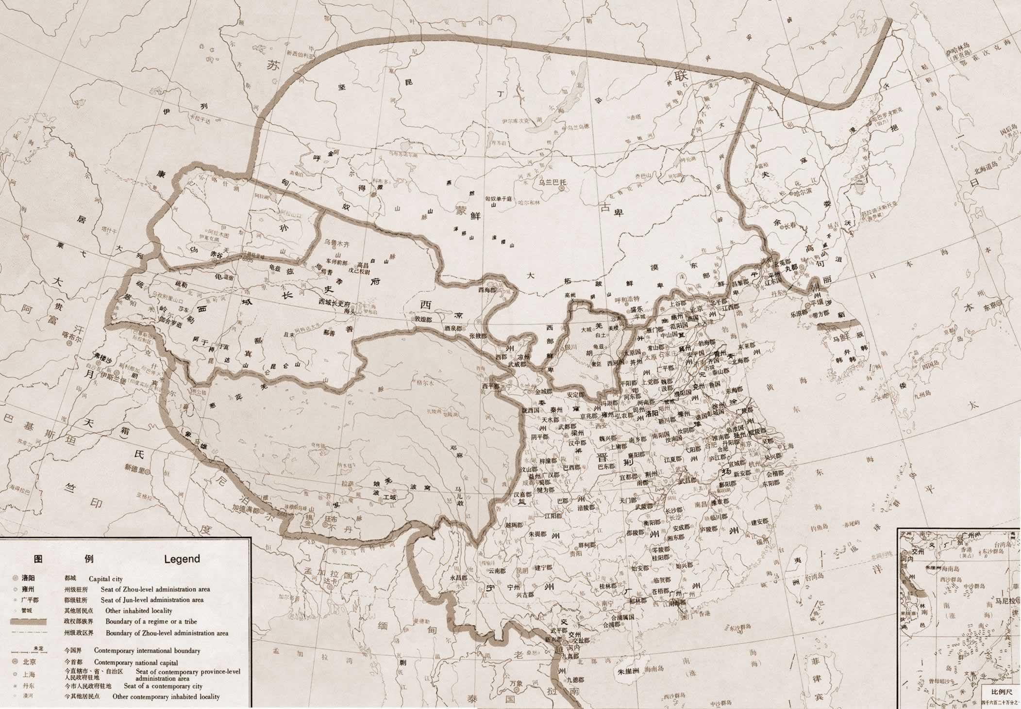 中国历朝历代地图--西晋